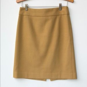 J Crew mustard yellow pencil skirt
